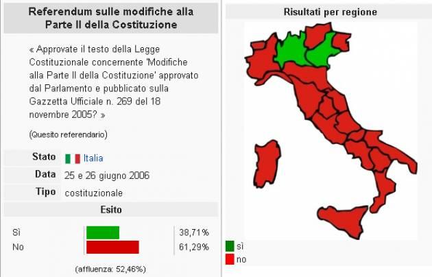 AccaddeOggi   #25 giugno 2006 Italia Si vota per il Referendum Costituzionale  promosso da Berlusconi