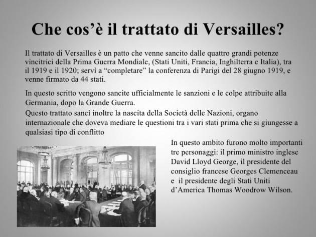 AccaddeOggi    #28giugno 1919 – Viene firmato il Trattato di Versailles, che pone ufficialmente fine alla prima guerra mondiale