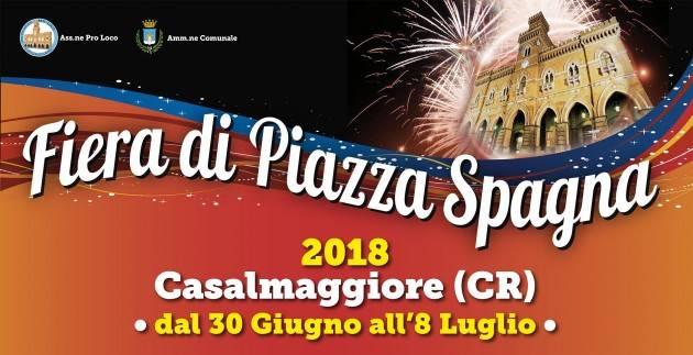Casalmaggiore, Fiera di Piazza Spagna 2018 fino al 9 luglio