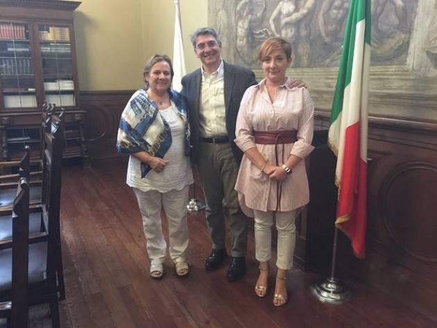 Brescia Emilio Del Bono  incontra Brunilda Rebolledo sindaco  di San Martin de los Andes (Patagonia)