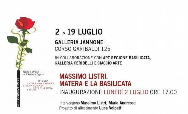 Inaugurazione mostra fotografica a Milano Massimo Listri. Matera e la Basilicata