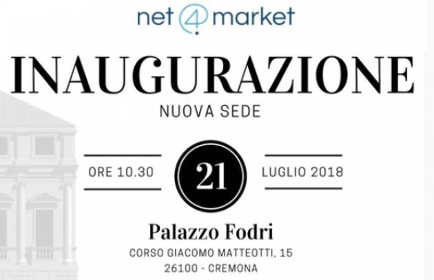 Cremona Inaugurazione di 'N ET 4 MARKET CSAM ED' A PALAZZO FODRI il 21 luglio