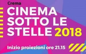 Crema Cinema sotto le stelle 2018 Film da Oscar  proiezione del 21 agosto