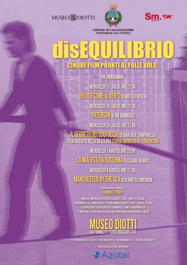 Rassegna cinematografica DisEQUILIBRIO al Museo Diotti di Casalmaggiore