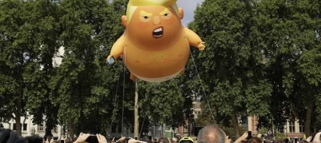 Donald Trump contestato a Londra. Non so voi ma io sto  con i contestatori by Gian Carlo Storti