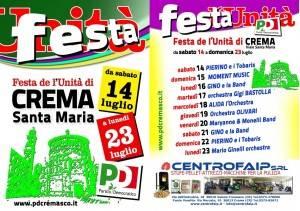 Ancora tanta gente alla Festa Unità di Crema Santa Maria aperta fino  al 23 luglio.