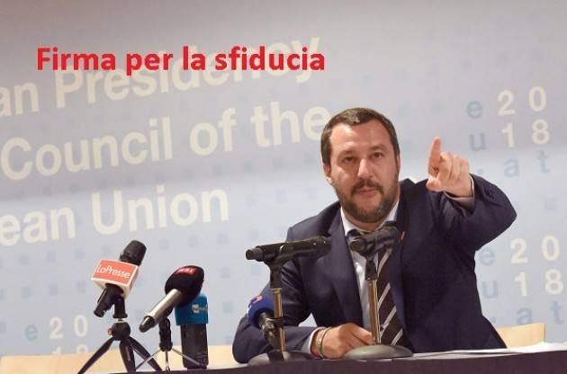 Matteo Salvini va sfiduciato. Raccolta firme su iniziativa di 'Possibile'