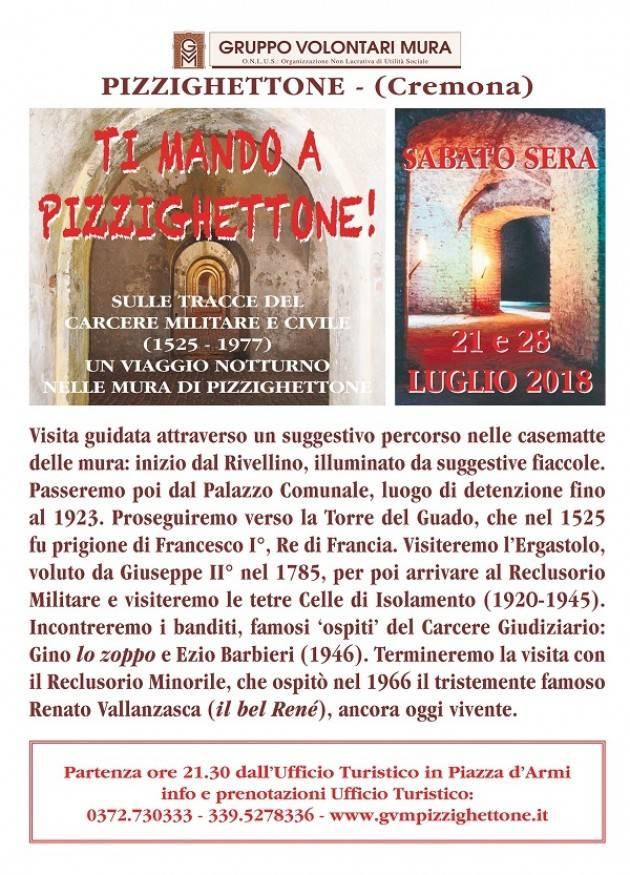 Visite guidate tematiche by night: 'ti mando a Pizzighettone!' il 21/7