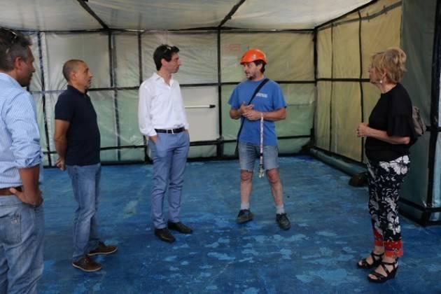 Cremona Galimberti,Ruggeri e Virgilio visitano la scuola Virgilio dove è in corso bonifica da amianto