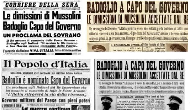 AccaddeOggi   #25luglio Caduta del fascismo e di Mussolini
