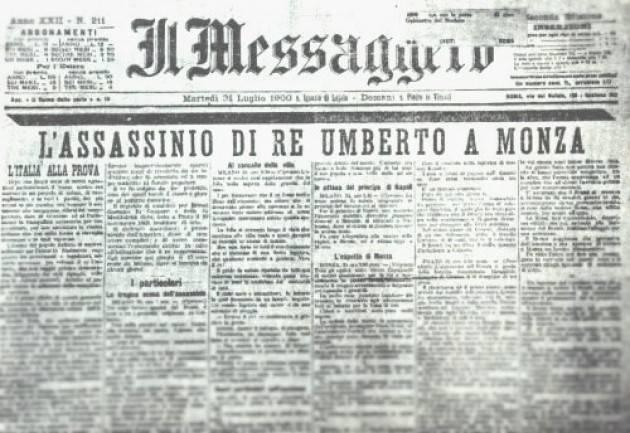 AccaddeOggi    #29luglio 1900 – L'anarchico Gaetano Bresci uccide a Monza Umberto I di Savoia, re d'Italia