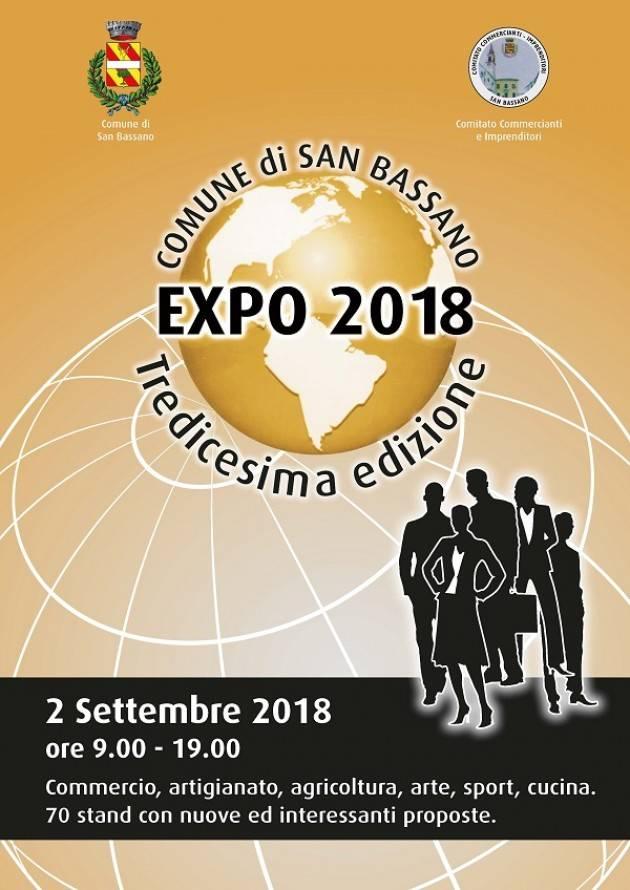 13° San Bassano Expo  Domenica 2 settembre 2018