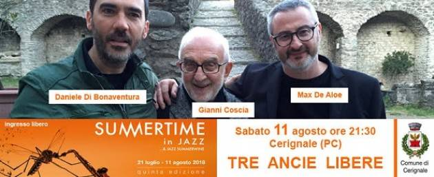 Dal 7 all'11 agosto finale col botto per Summertime in Jazz 2018! Sabato 11/8 a Cerignale.