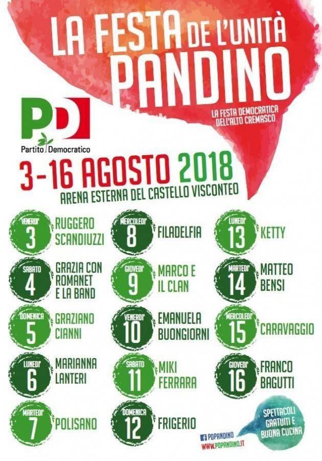 E la Festa dell'Unità di Pandino continua fino 16 agosto