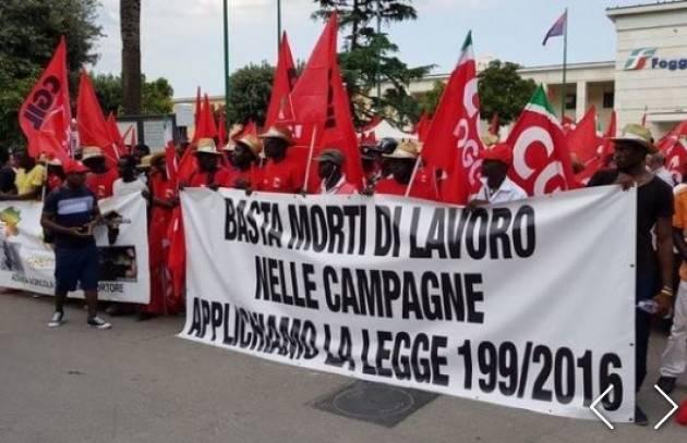 Cgil La manifestazione Da Foggia una grande risposta: basta caporalato