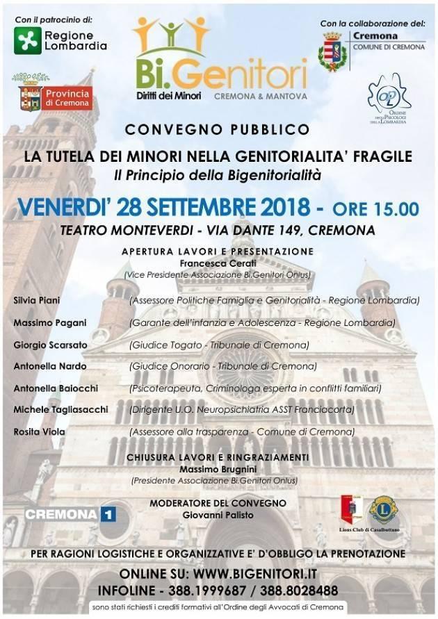 In Cremona: il 28/9 il convegno 'Tutela dei Minori nella genitorialità fragile'