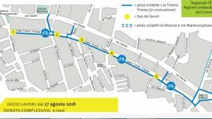A Cremona Ciclabile di viale Trento e Trieste, dal 27 agosto iniziano i lavori