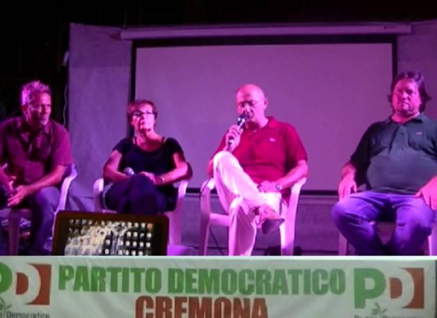 (Video) Cremona che cambia. Dibattito alla Festa Unità 2018 con Bona, Garoli, Virgilio e Garioni