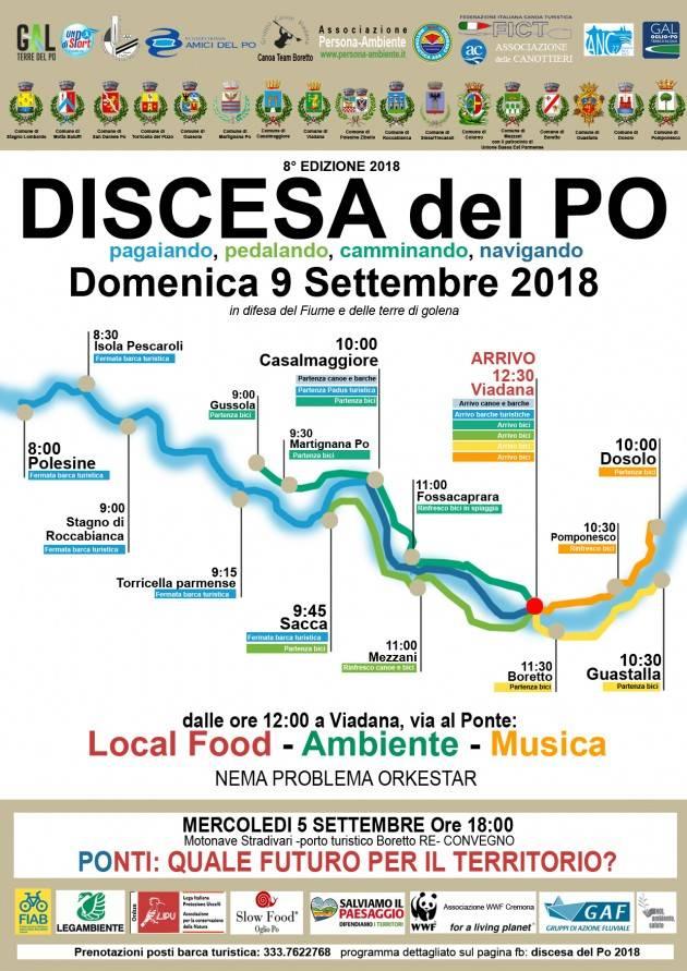 Casalasco Domani Ottava edizione Discesa del PO  il 9 settembre 2018