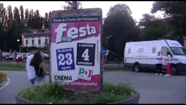 (Video) Crema Ombrianello2018. Immagini dalla Festa dell'Unità ed interviste a Matteo Piloni e Cinzia Fontana