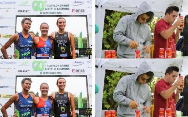 Stradivari Triathlon Team. La prima volta di Tania Molinari e di Thomas Previtali al 'Città di Cremona'.