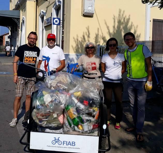 Matteo Piloni ha partecipato all'azione EcoAzioni a Crema oggi domenica 9 settembre