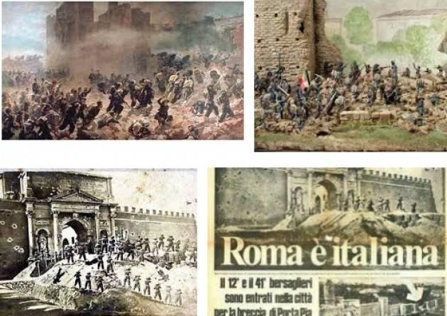 L'ECOSTORIA  Si celebra oggi 20 settembre a Cremona  Il 148° presa di Porta Pia