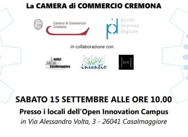 Casalmaggiore 'Open Innovation al Campus' con Punto Impresa Digitale il 15 settembre