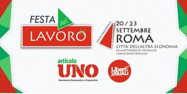 Artcolo1 Leu Festa del lavoro 2018 dal 20 al 23 settembre a Roma