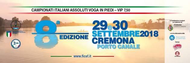 A Cremona Canottieri Bissolati 8^ edizione dei Campionati Italiani Assoluti di Voga in Piedi 29-30 settembre