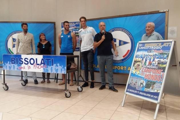 Giacomo Gentili e Andrea Cattaneo festeggiati alla Canottieri Bissolati