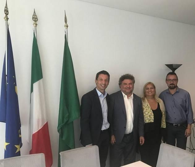 Galimberti e Manfredini, confronto in Regione con l'Assessore Alessandro Mattinzoli sul commercio