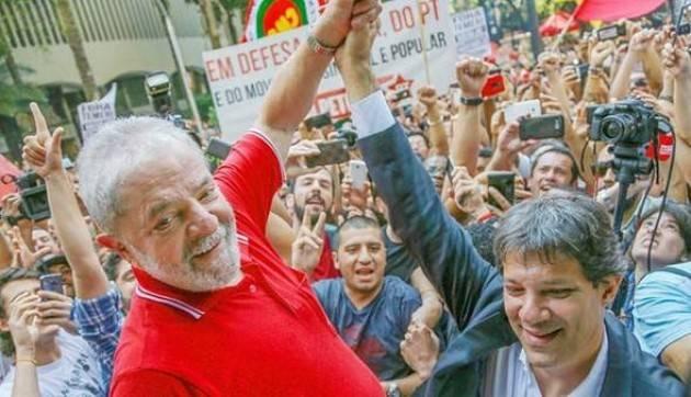 Lettera di Lula ai brasiliani:'da oggi, Haddad sará Lula per migliaia di brasileños'  Voto del 7 ottobre