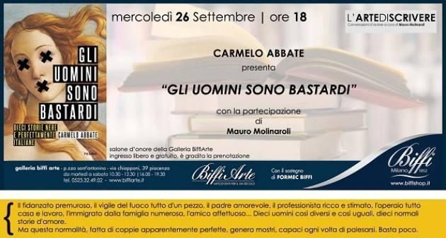 Biffi Arte: riparte mercoledì 26/9 'L'arte di scrivere' con Carmelo Abbate