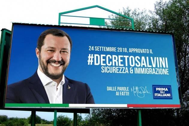 ADUC Governo. Salvini e il decreto sugli immigrati. Avrà l'effetto opposto Vediamo come.