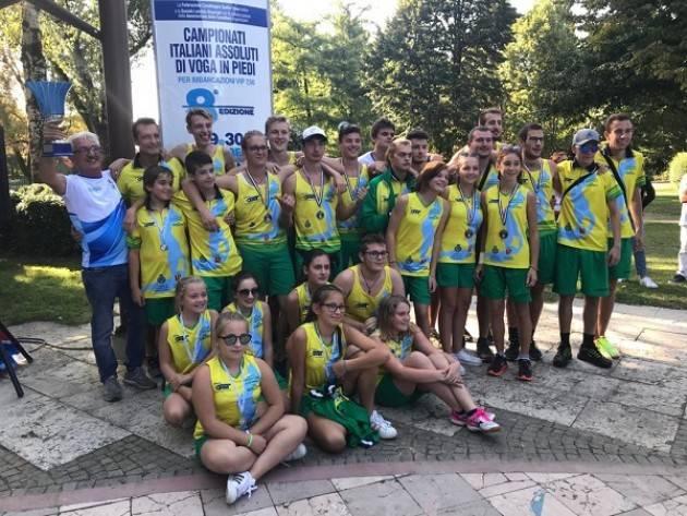 Un successo i CAMPIONATI ITALIANI ASSOLUTI DI VOGA IN PIEDI organizzati dalla Canottieri Bissolati