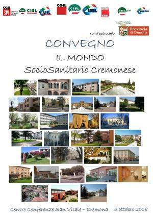 Cgil-Cisl-Uil Organizzano importante Convegno il  5 Ottobre  'Il mondo Sociosanitario Cremonese'