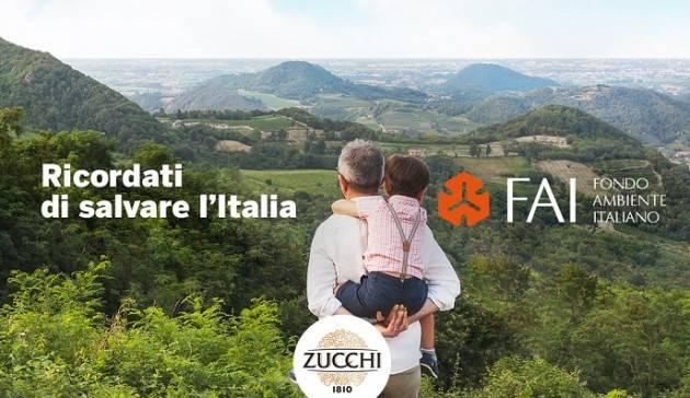 Oleificio Zucchi sostiene gli uliveti del FAI partecipando a 'Ricordati di salvare l'Italia'