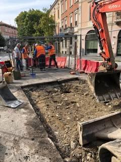 Padania Acque  Cremona: verifiche alla rete acquedottistica e fognaria in via Buoso da Dovara angolo piazza IV Novembre