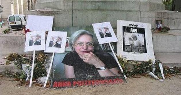 AccaddeOggi     #7ottobre 2006 – La giornalista russa Anna Stepanovna  Politkovskaja viene uccisa con tre colpi di pistola.