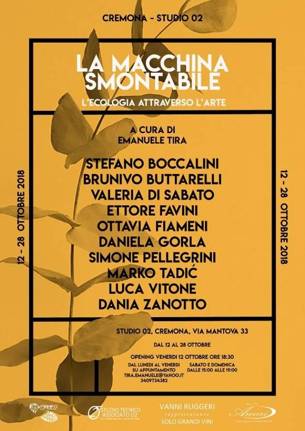 Cremona mostra 'La Macchina Smontabile, l'ecologia attraverso l'arte' visitabile fino al 28 ottobre
