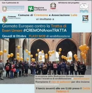 A Cremona Tavola Rotonda 'Contro la Tratta'  il 18 ottobre Flash mob #LIBERAILTUOSOGNO