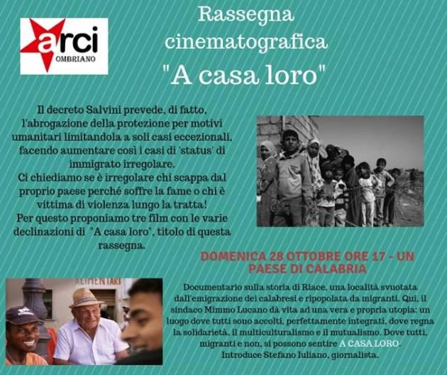 Arci Ombriano Domenica 28 proiezione  Documentario sulla storia di Riace
