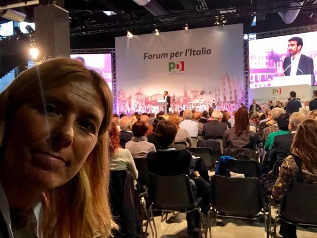 Alessia Manfredini ha partecipato al Forum per l'Italia  del PD a Milano