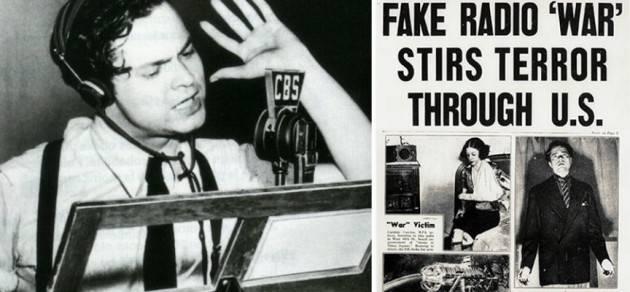 AccaddeOggi  #29ottobre 1938 Orson Welles  in trasmissione radio trasmette una  realistica guerra dei mondi, mandando in panico gli USA