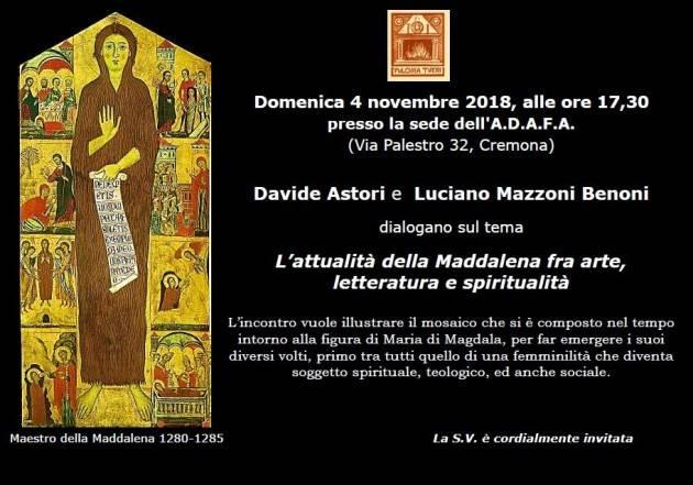 Incontro di domenica 4 novembre, ore 17,30 su L'attualità della Maddalena