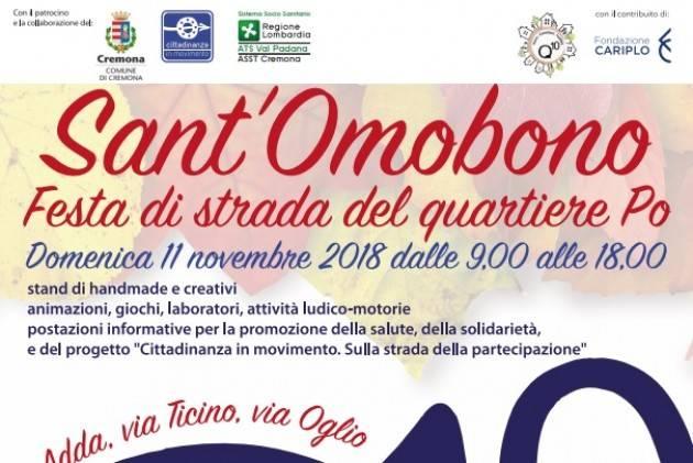 Cremona E' festa di strada al quartiere Po in occasione di S. Omobono  Domenica 11 novembre