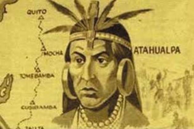 AccaddeOggi   #16novembre 1532 - Francisco Pizarro e i suoi uomini catturano con l'inganno l'imperatore Inca Atahualpa e lo imprigionano massacrandone i soldati