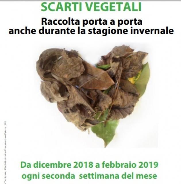Cremona SCARTI VEGETALI: RACCOLTA PORTA A PORTA  ANCHE DURANTE LA STAGIONE INVERNALE