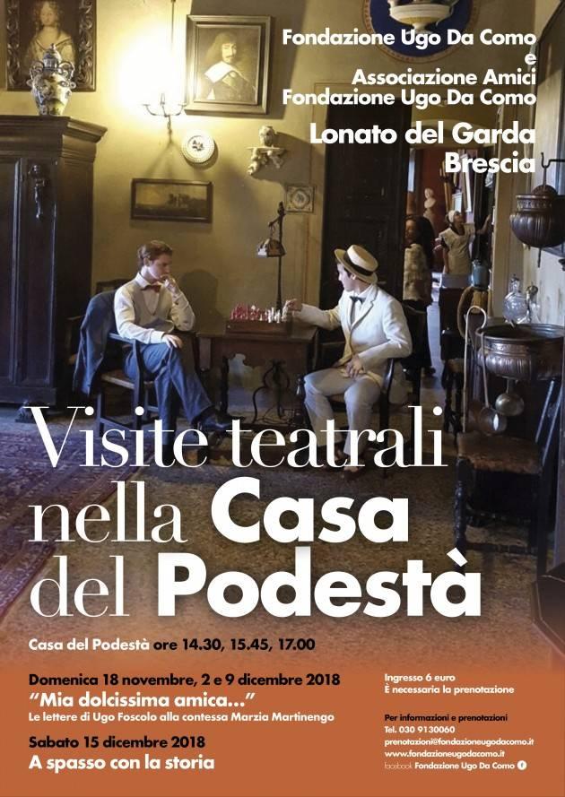 Visite guidate teatrali alla Fondazione Ugo Da Como a Lonato del Garda